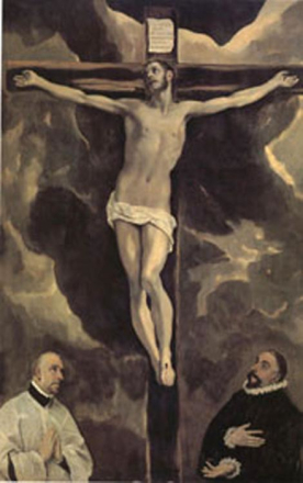 Steve Art Gallery Christ on the Cross Adored by Two Donors,El Greco