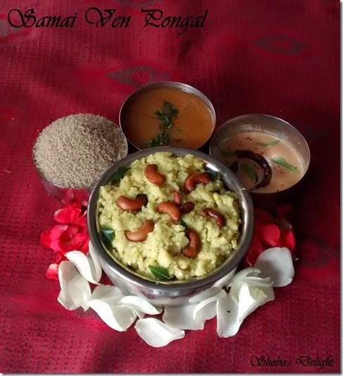 Samai(Little Millet) Ven Pongal–Pongal recipes