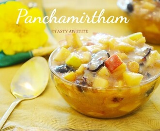 Panchamirtham / Mixed Fruits Panchamirtham / Easy Neivedyam Recipes