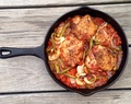 Skillet Tomato Chicken Thighs