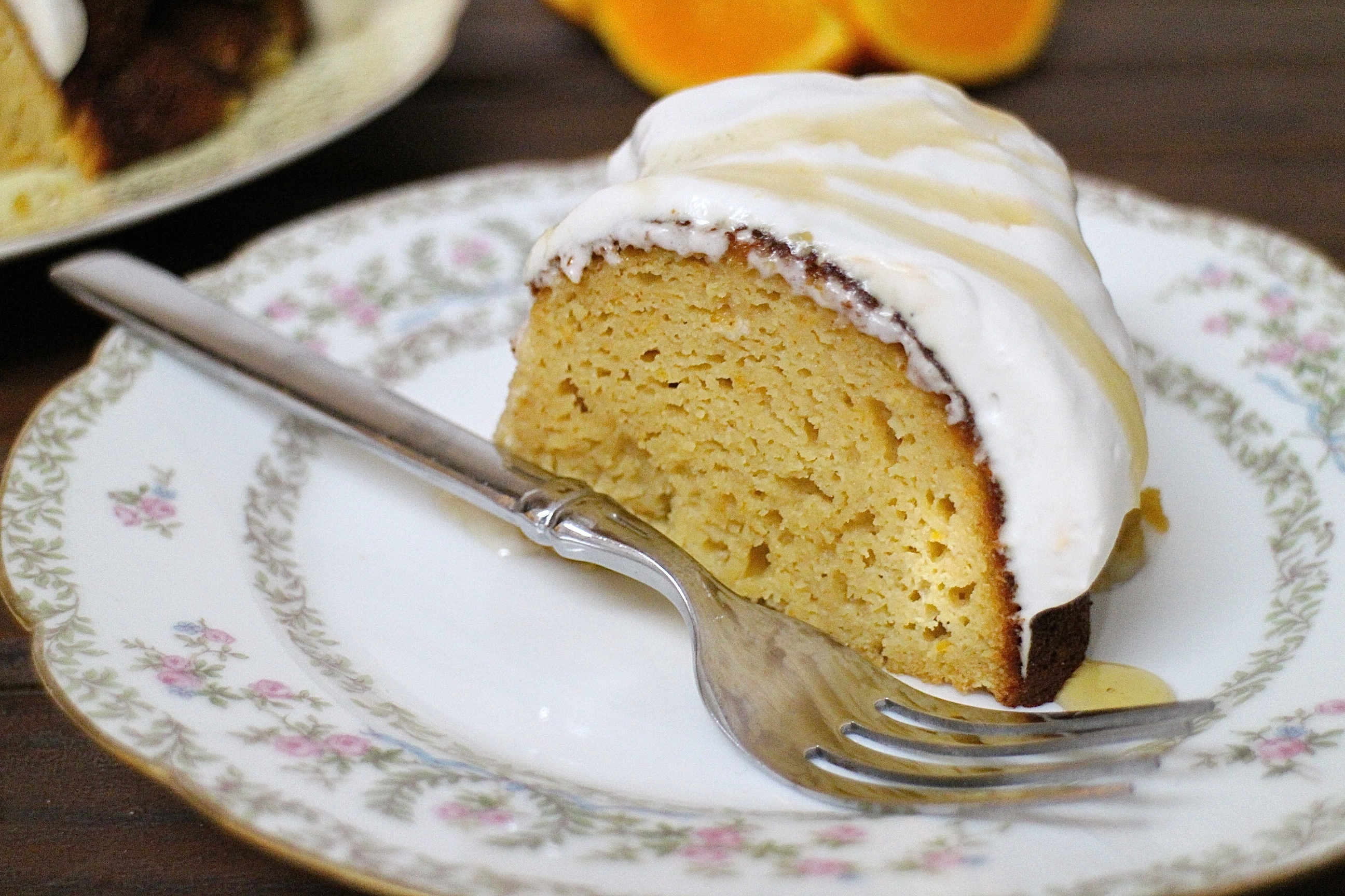 Coconut Orange Bundt Cake with Coconut Whipped Cream #Bundtbakers