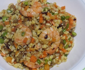 Shrimp and Vegetable Fried (Fake) Rice