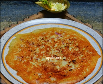 Thinai Onion Uthappam/Foxtail millet Onion Uthappam