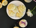 Lemon Crinkle Cookies - Eggless