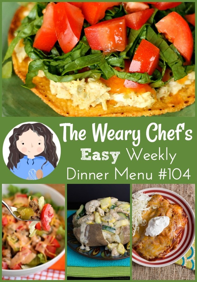 Easy Weekly Dinner Menu #104: Easy Dinners and a $500 Giveaway!