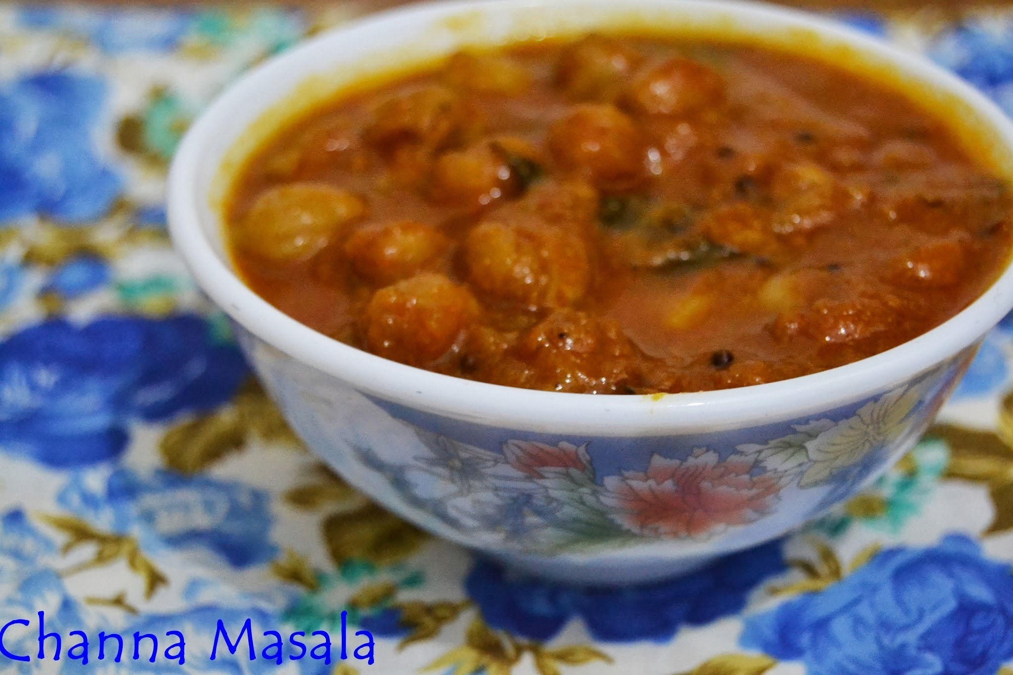 Chickpeas/ Channa Masala in Coconut Milk