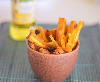 Baked sweet potato fries - healthy snack for kids