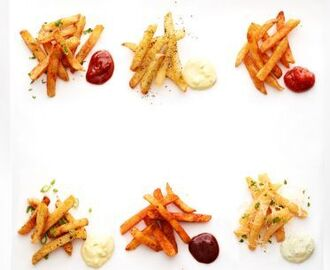 Spiced Fries Six Ways with Dipping Sauces