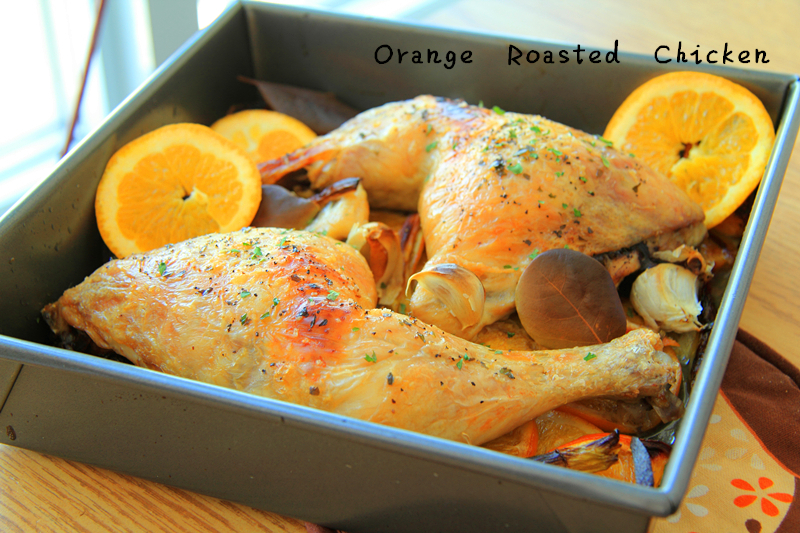 Orange Roasted Chicken Thighs