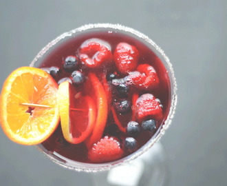 Triple berry vodka martini