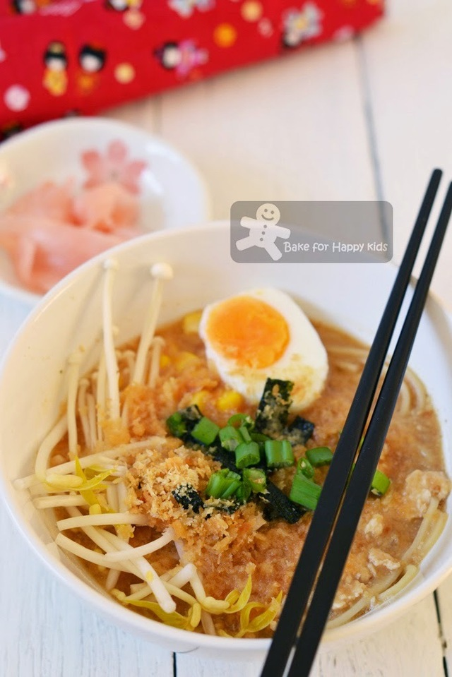 Quick and Delightful Homemade Miso Ramen and Alfa One Rice Bran Oil Giveaway