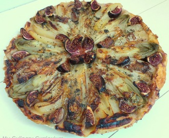 Tarte aux endives, poires, figues et roquefort (Chicory, pears ,figs and blue cheese tart)