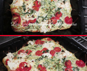 Clafoutis courgette tomate-cerise