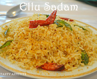 Ellu Sadam Recipe / Til Rice / Sesame Rice / Healthy Lunch Box menus: