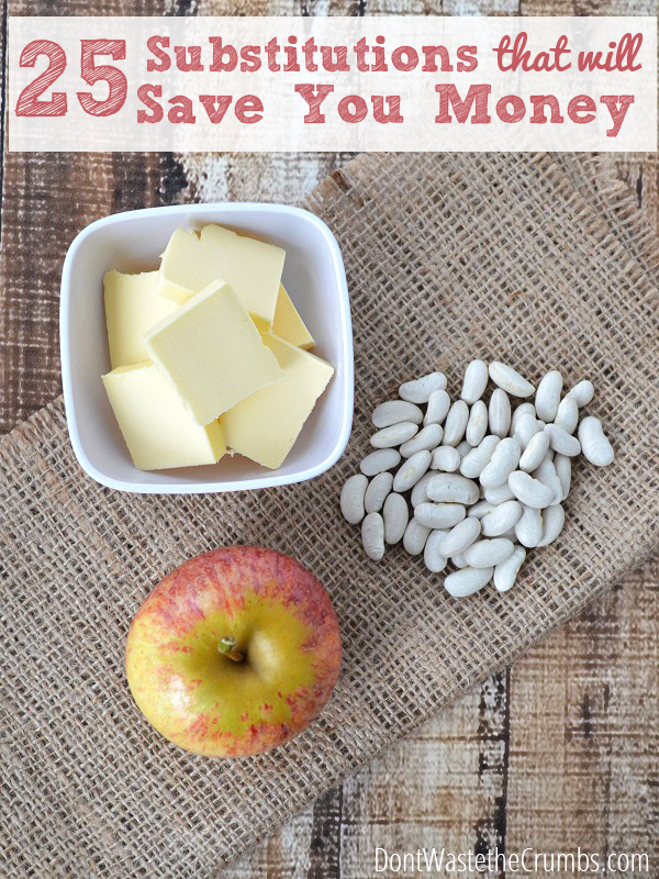 25 Food Substitutions That Will Save You Money