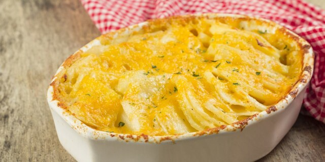 Scalloped Potatoes with Three Cheeses