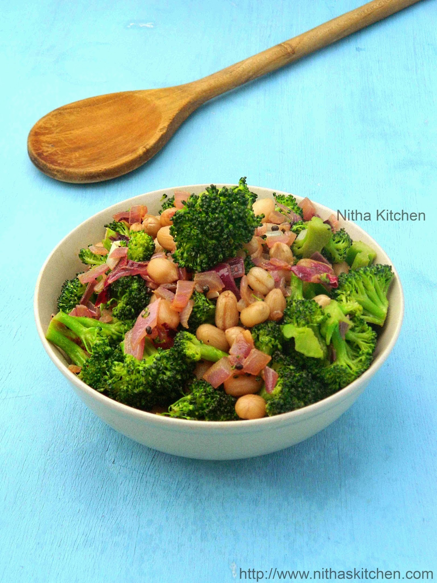 Broccoli Peanut Stir Fry | Healthy Broccoli Side or Salad | Poriyal Recipe