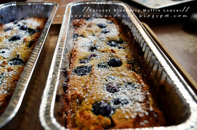 Coconut Blueberry Muffin Loaf!
