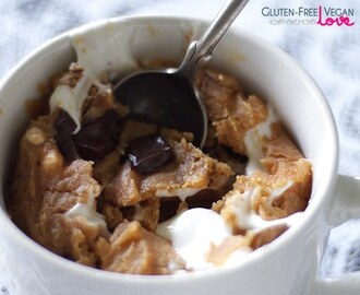 Gluten-Free Vegan 2 Minute Mug Blondie — with Peanut Butter, Marshmallows, and Chocolate Chunks
