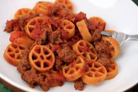 Wagon Wheel Beef Pasta