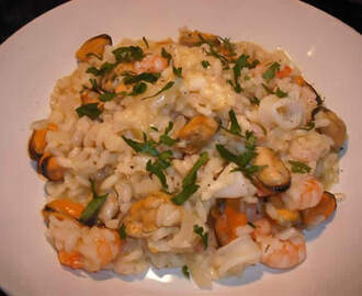Risotto aux fruits de mer avec thermomix