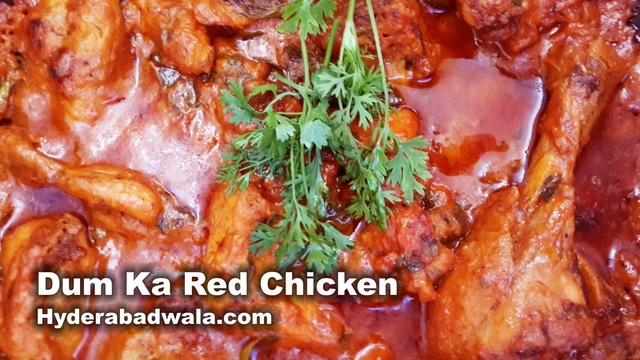 Dum Ka Chicken (Red) Recipe Video #VideoRecipes