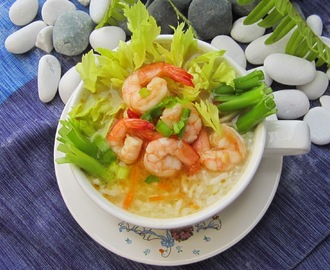 Lemon Garlic Shrimp Rice Porridge