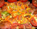 Oven-baked Chicken with Capsicum and Tomatoes #ChickenWorld