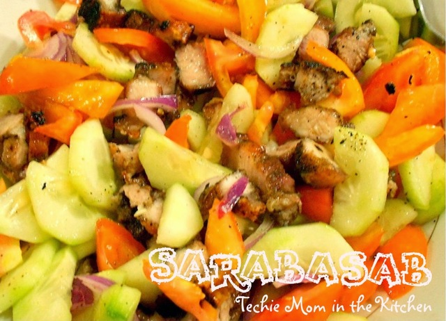 SARABASAB (Vegetable Salad with Grilled Pork Belly)