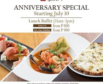 Salvatore Cuomo's Anniversary Special Lunch Buffet: Manila's Best Italian Restaurant at Bargain Rates