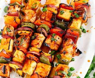Eat Yourself Skinny Hawaiian Chicken Pineapple kbobs