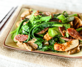 Stir-fried Gai Lan with Fish Cake & Lap Cheong