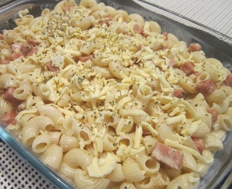 MACARONI CHEESE and LUNCHEON MEAT