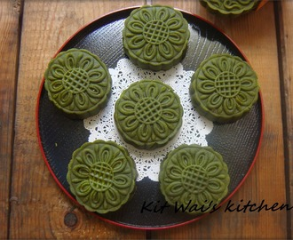 绿茶月饼 ~ Green Tea Mooncake