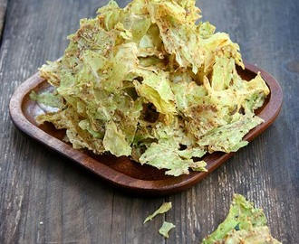 Almond Butter Cabbage Chips