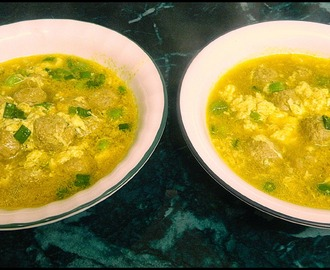 Italian Egg Drop Soup with Mini Meatballs