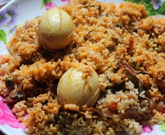 Brown Rice Egg Biryani Recipe / Egg Dum Biryani Recipe