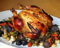 Fig Orange Mustard Roast Chicken and Winter Vegetables