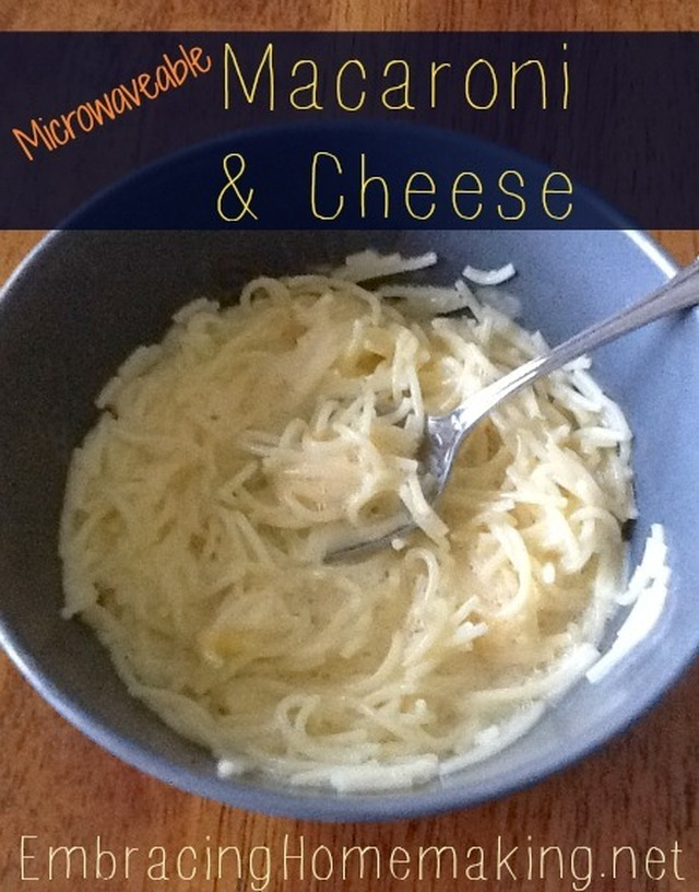 Homemade Microwaveable Macaroni & Cheese