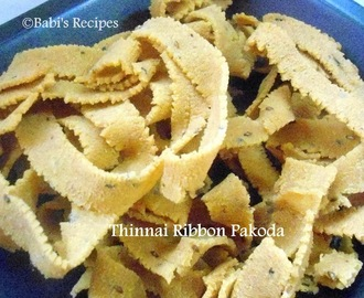 Foxtail Millet / Thinnai Ribbon Pakoda | Healthy Snack