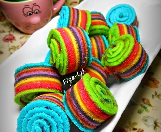 MINI RAINBOW CAKE ROLL - KUKUS