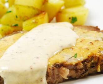 Pork Steaks in Mustard Sauce