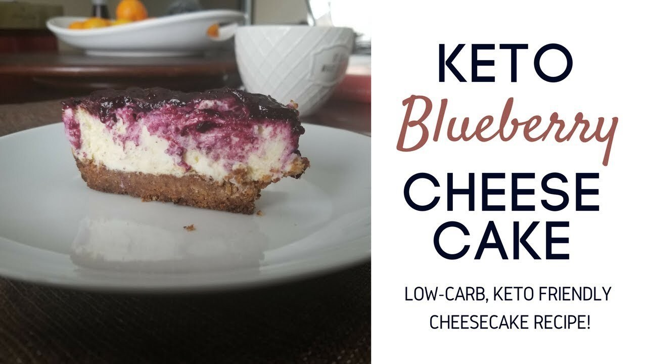 KETO RECIPES | Keto Blueberry Cheesecake, How to Make Low Carb Cheesecake Recipe