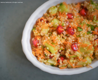Quinoa pomegranate salad
