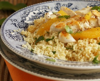 Couscous de Laranja com Frango Grelhado {Couscous with Orange & Grilled Chicken Breast}