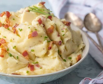 Bacon Goat Cheese Mashed Potatoes