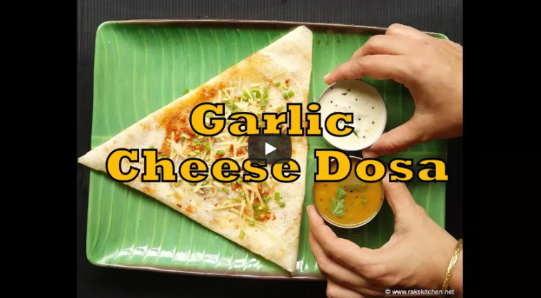 Garlic Cheese Dosa Recipe Video