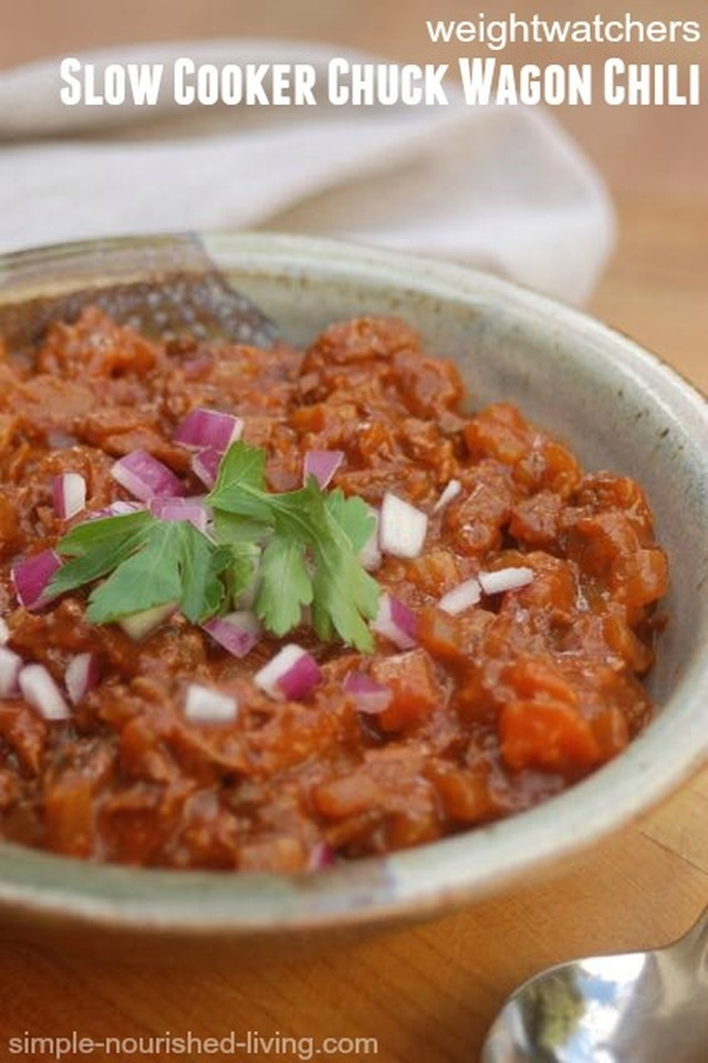 Slow Cooker Weight Watchers Chuck Wagon Chili