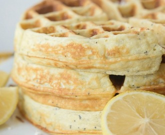 Lemon Coconut Poppyseed Waffles