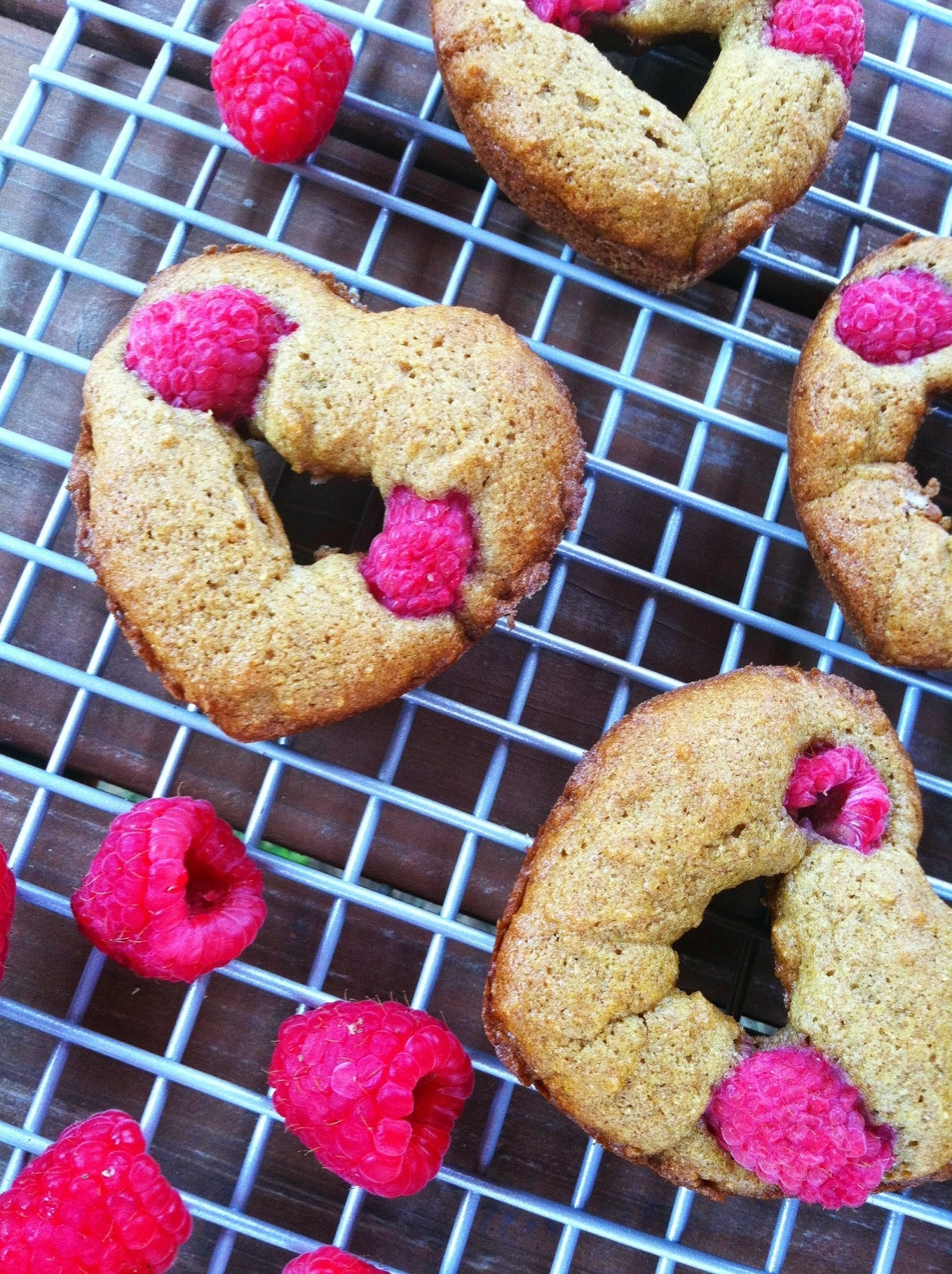 Baked Whole-Wheat Raspberry Doughnuts